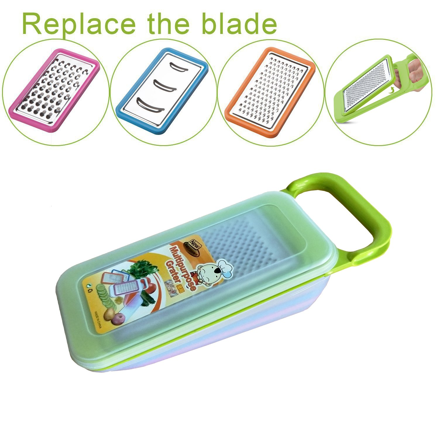 Tenta Kitchen 4 Piece Cheese Grater Set with Container - Zester ...