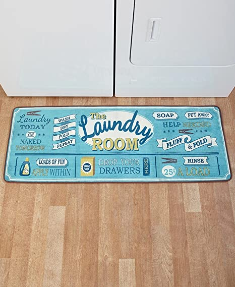 Amazoncom The Lakeside Collection 52 Laundry Room Rug Kitchen