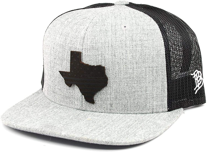 Branded Bills /'Hawaii Patriot/' Leather Patch Snapback Hat OSFA//Black