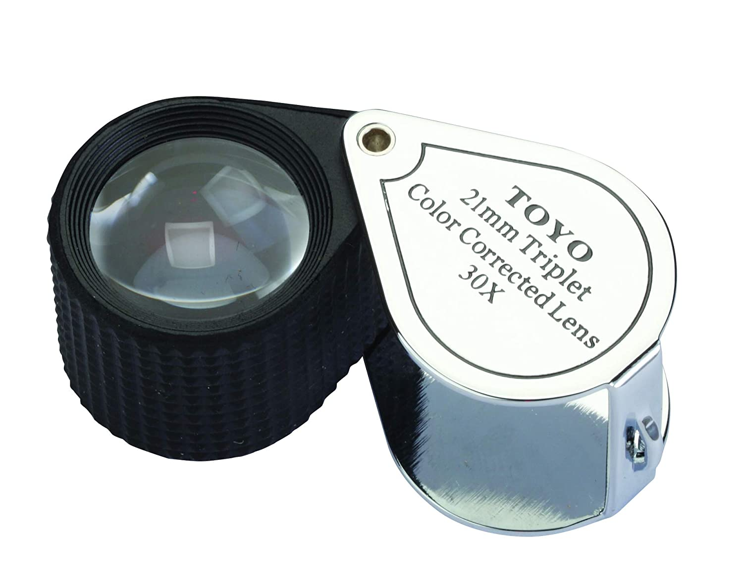 Toyo 30X21-B Professional 30X Magnifying Jeweler's Loupe with 21mm Triplet Lens, Chrome