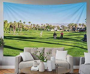 Shorping Blue Tapestries, 80x60Inches Hanging Wall Tapestry for Décor Living Room Dorm Desert CA NOV 14 Golfing at The Golf Courses Marriott Villas Desert Springs on November 2015 in