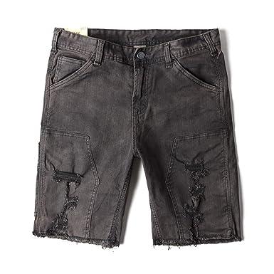 4af6fecf69 Fashion Street Vintage Ripped Denim Shorts Washed Retro Short Jeans for Man  Summer Jean Bermuda at Amazon Men's Clothing store:
