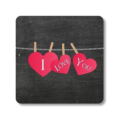 Buy Yaya Cafe Birthday Gifts For Girlfriend I Love You Tea Coasters