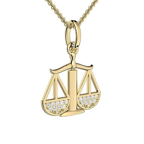 Anhänger Sternzeichen WAAGE Silber Kettenanhänger Horoskop