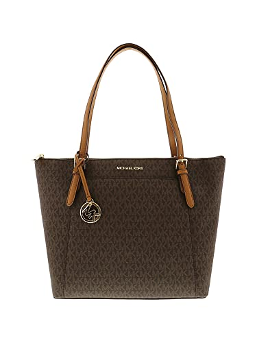 0fee604cabba Michael Kors Women s Ciara Large East West Top Zip Leather Tote - Brown  Acorn  Handbags  Amazon.com