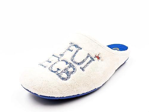 94e760f8978 Zapatilla Mujer de Estar en casa Tipo Chinela SALEMERA, Suapel Color Crudo,  Bordado YO FUI A EGB - H697-14: Amazon.es: Zapatos y complementos