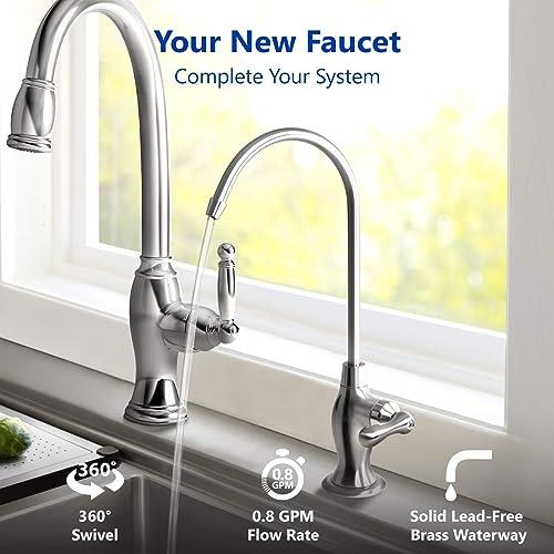 DELUXE Ceramic Disc Designer Faucet Coke Shaped Non-Air Gap Faucet, CHROME