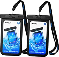 Mpow Waterproof Case, Universal IPX8 Waterproof Phone Pouch Clear Dry Bag Compatible with iPhone Xs/XS Max/XR/X/8/8...