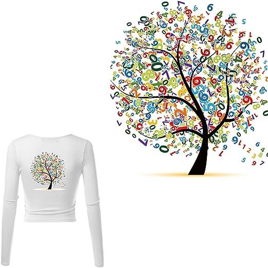 Nysunshine Parches de Navidad, Parches de árbol Digital, Camiseta, Transferencia de Calor, Adhesivo Lavable, Planchar en electrodomésticos: Amazon.es: Hogar
