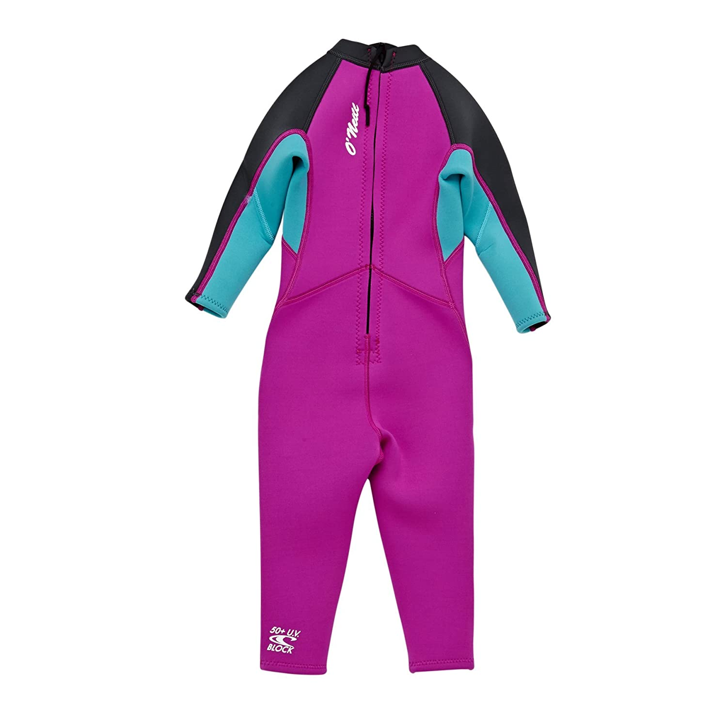 O Neill 2018 Toddler Girls Reactor 2mm Back Zip Wetsuit BERRY AQUA 4868G   Amazon.co.uk  Sports   Outdoors 28ecccfb5