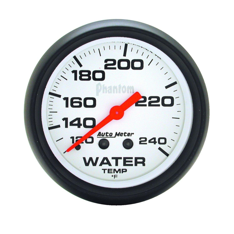Auto Meter 5832 Phantom Mechanical Water Temperature Gauge