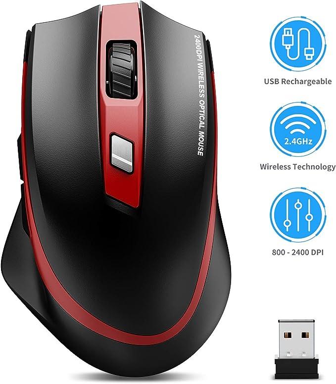 Tedgem Maus Kabellos 2 4g Aufladung Funkmaus Wireless Computer Zubehör
