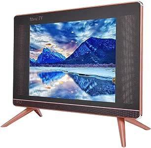 Mini TV Música Televisión Fácil de Operar TV LCD de Alta Definición de 17 Pulgadas Mini Televisión Portátil Sonido Alto 110-240V(EU): Amazon.es: Electrónica