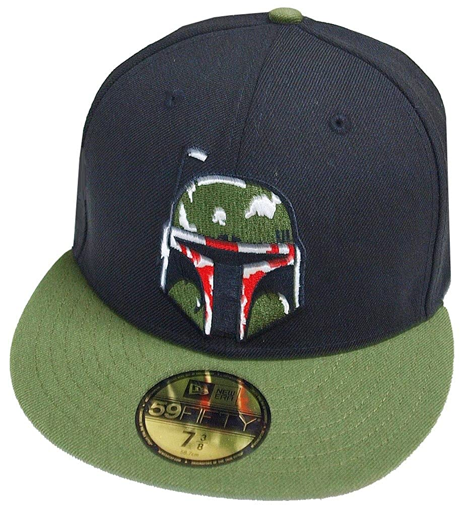 New Era Boba Fett Black Olive 59fifty 5950 Fitted Cap Basecap Kappe Mens Star  Wars at Amazon Men s Clothing store  cc7801fe201e
