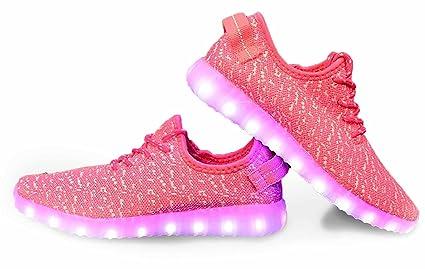 Amazon.com   LED Shoes Mens Womens USB Charging Light Up Shoes (Hot ... 6bd569a26311