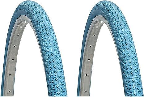 ONOGAL 2X Cubierta Rueda Deli Tire Color Azul 26