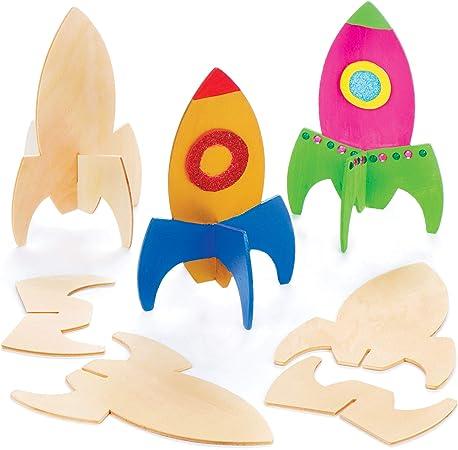 Cohetes de madera con soporte - Perfectos para decoraciones y ...