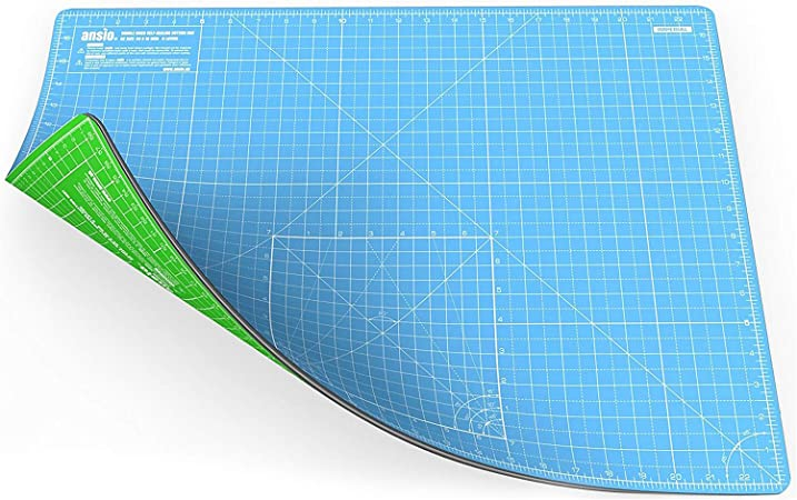 Quilting ANSIO Craft Cutting Mat Self Healing A2 Double Sided 5 Layers Fabric