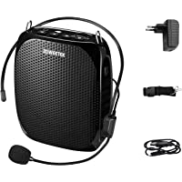 Zoweetek® Amplificador portatil (10W) con 1800 mAh batería de Litio con un microfono para guías Maestros Profesores…