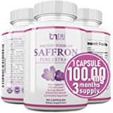 Saffron Extract Supplement 100mg - Powerful Appetite Suppressant for Weight Loss Eye & Heart Health Support - Organic Anti-St