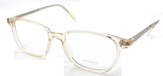 oliver peoples rx eyeglasses frames maslon 5279u 1094 53x18 light clear yellow - Yellow Eyeglass Frames