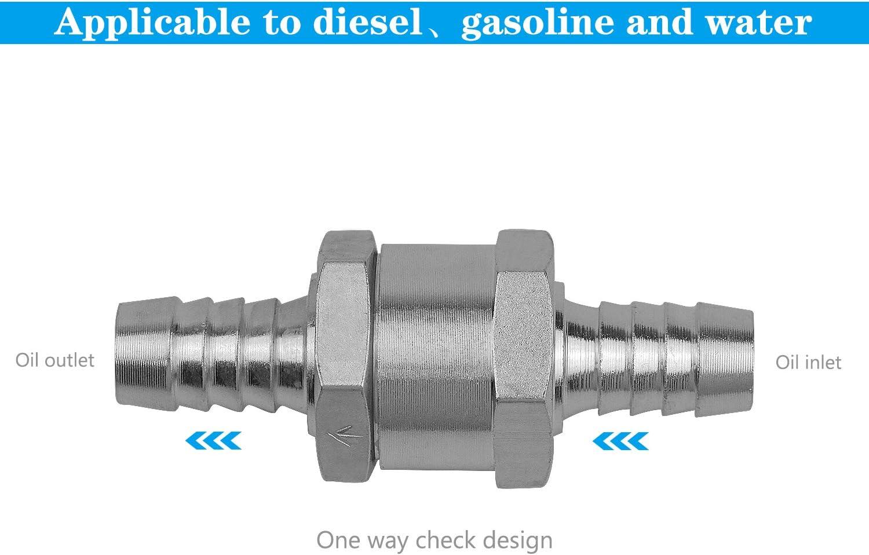Valve /à Carburant en Alliage daluminium avec Fl/èche pour pour Essence Diesel Voiture Bateau Moto FEIGO Set de 4 Clapet Anti-retour Gasoil 6//8//10//12mm