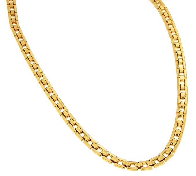 Collar Cadena clásico oro doublé 5mm longitud seleccionable directamente desde la fábrica italianahttps://amzn.to/2KthovD