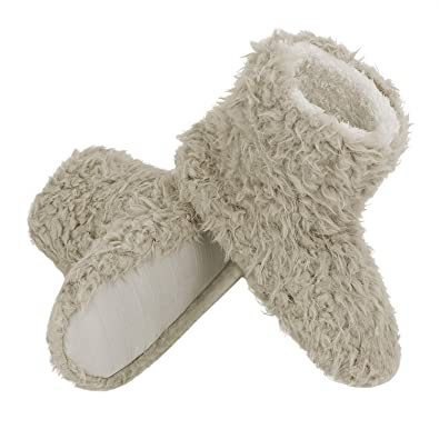 83aef5569532 Unisex Wool Slipper Boots Indoor Outdoor Ankle Bootie for Mens Womens  Warmer Shoes Fleece Lining Pure