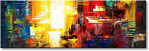 Hand Painted Abstract Canvas Wall Art Modern Decor Picture Acrylic Painting for Living Room Framed Ready to Hang