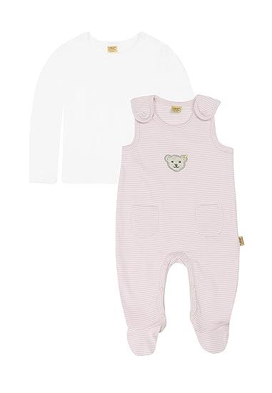 Steiff Baby Girls Long Sleeve Clothing Set Pink Barely Pink 0