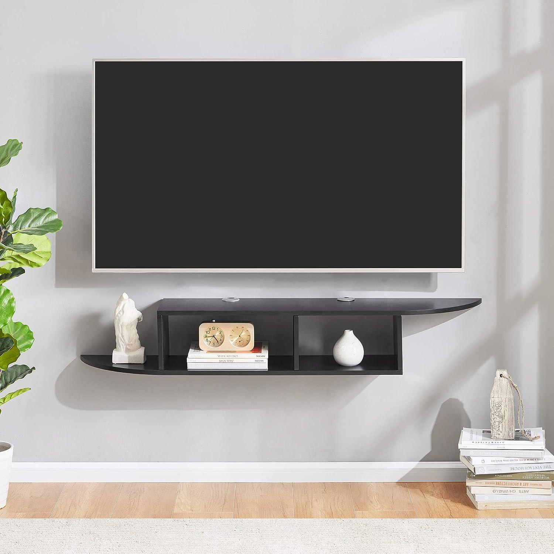 7 - Best black Floating TV shelf: Sunon Floating TV shelf