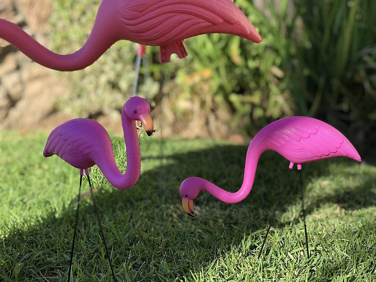 "GIFTEXPRESS Pack of 2 34/"" Large Bright Pink Flamingo Yard Ornament// Flamingo"