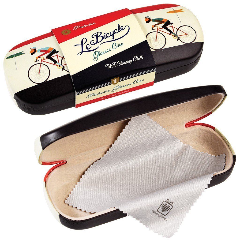 54eea2afd51 Hardshell Glasses Case   Cleaning Cloth - Choice Of Design (Le Bicycle)   Amazon.co.uk  Health   Personal Care
