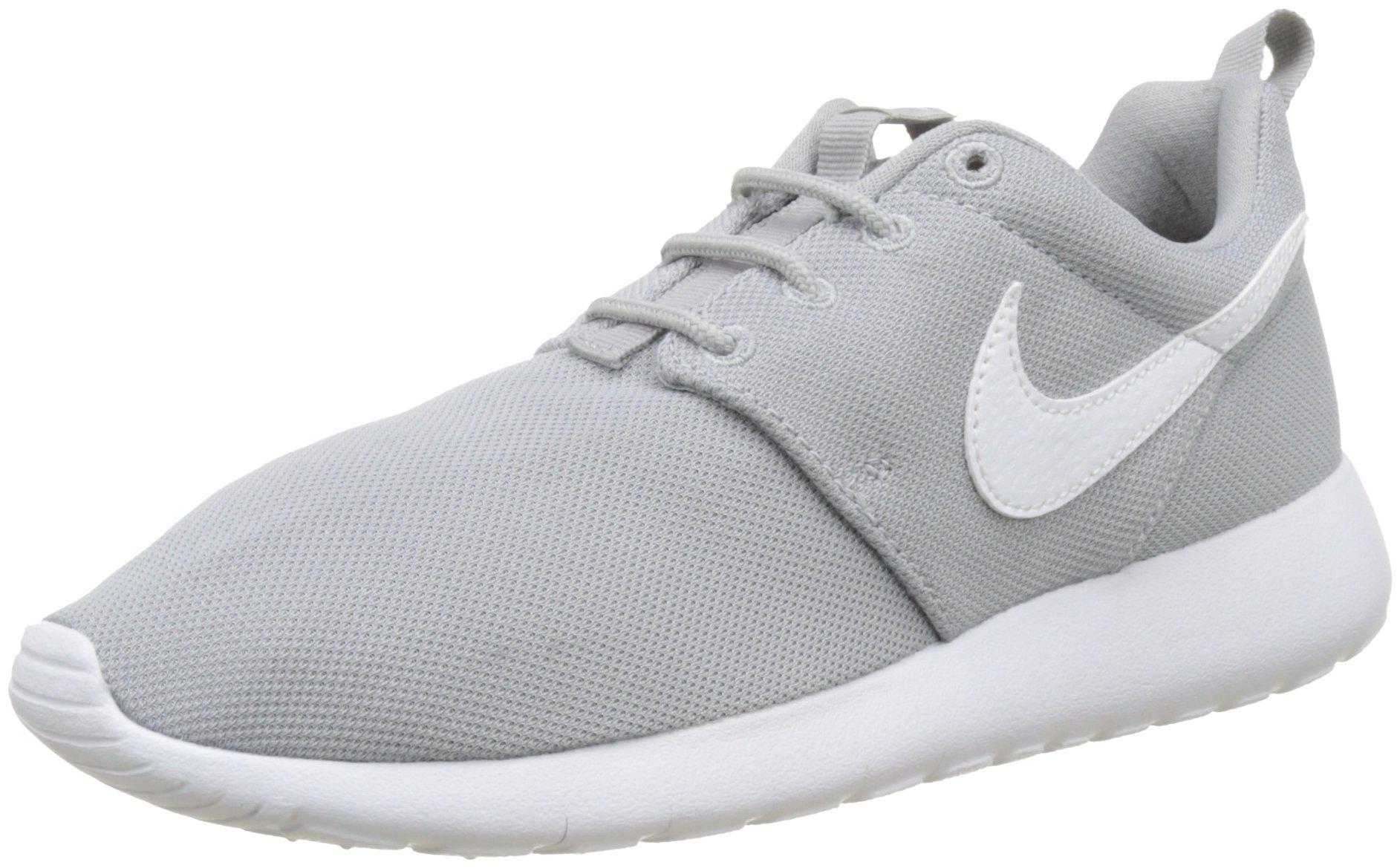 Nike Boy's Grade-School Roshe (GS) Sneakers Grey White Size 3.5Y US by NIKE