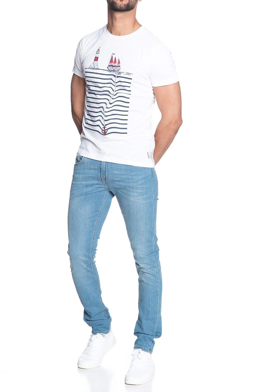 Yes Zee T Shirt Manica Corta Uomo Bianca