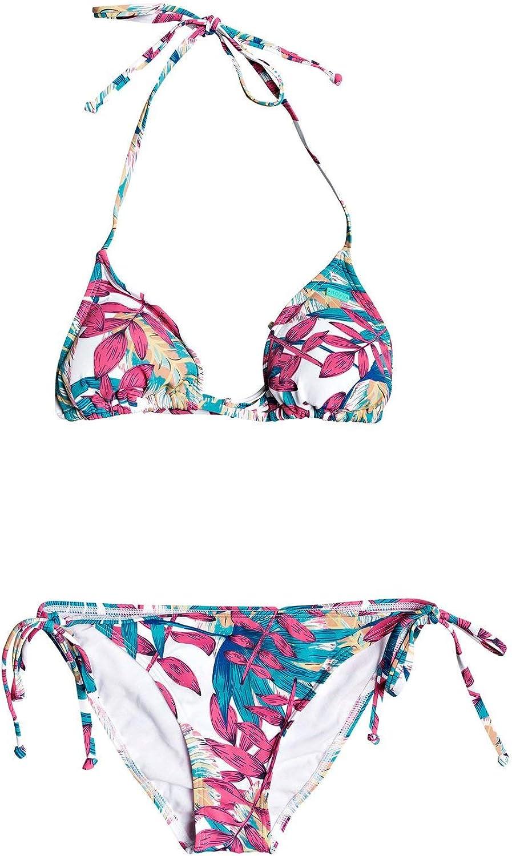 Roxy Womens Into The Sun Tiki Tri Bikini Set