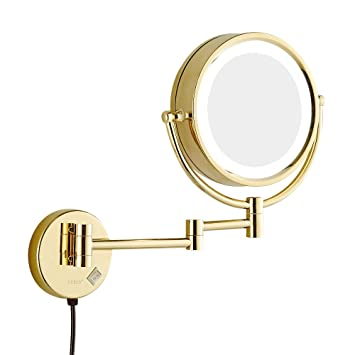Amazon gurun 85 inch led lighted wall mount makeup mirror gurun 85 inch led lighted wall mount makeup mirror with 7x magnificationgold finish m1809dj aloadofball Gallery