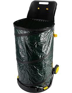 Amazon com : Rolling Leaf Bag Holder : Reusable Yard Waste Bags