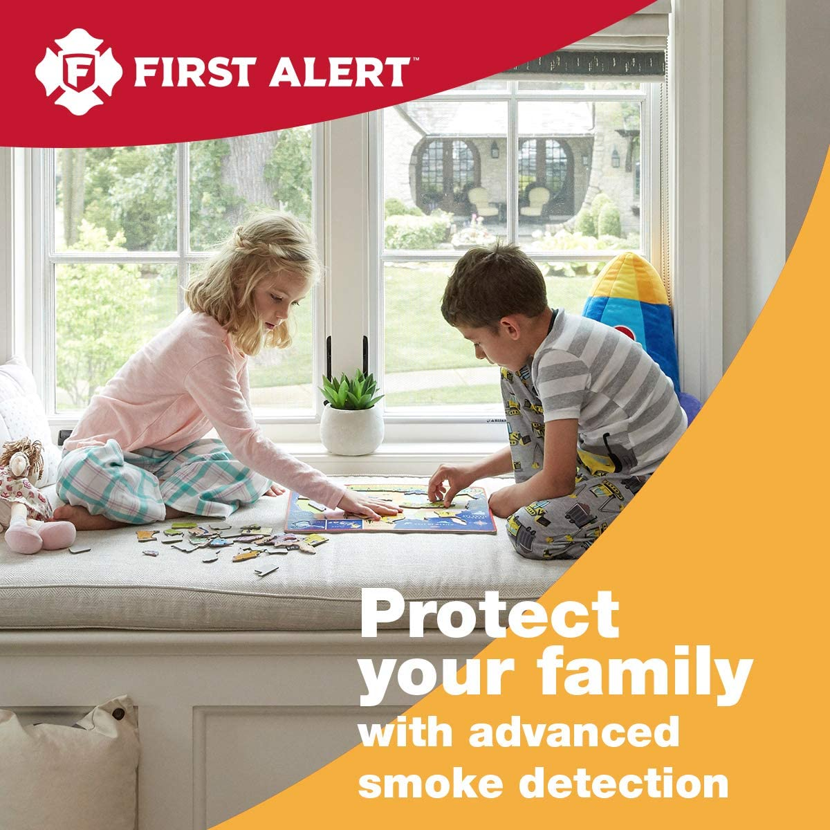 First Alert Smoke Detector Alarm | Battery Powered with Wireless Interconnect | 2-Pack, SA511CN2-3ST - Smoke Detectors -