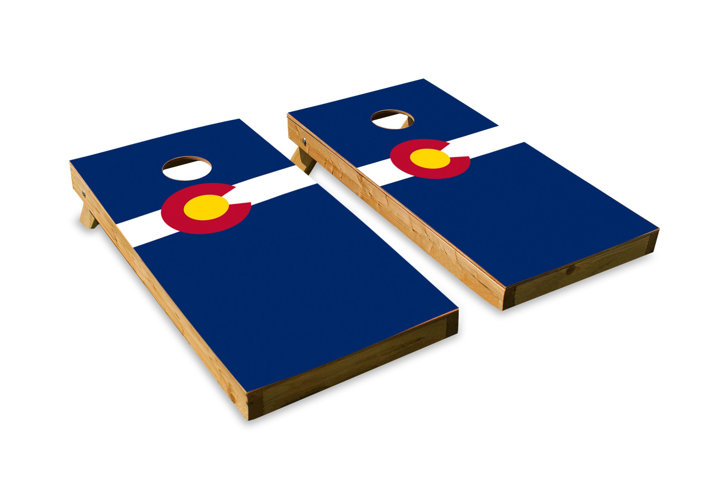 Colorado State Flag - Cornhole Crew - ACA Regulation Size Cornhole Board Set