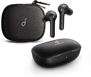 Anker Soundcore Life P2 True Wireless Earbuds with Travel Case, 4 Mics, cVc 8.0 Noise Reduction, Graphene Driver, Clarity Sound, USB C, 40H Playtime, IPX7 Waterproof, Wireless Earphones, Commute, Work