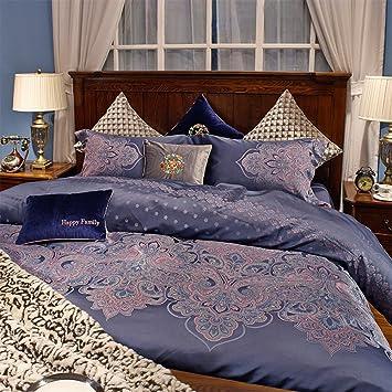 100% Extra Long Staple Cotton Four Piece Double Bed Sheet Quilt Cover  Gorgeous Garden