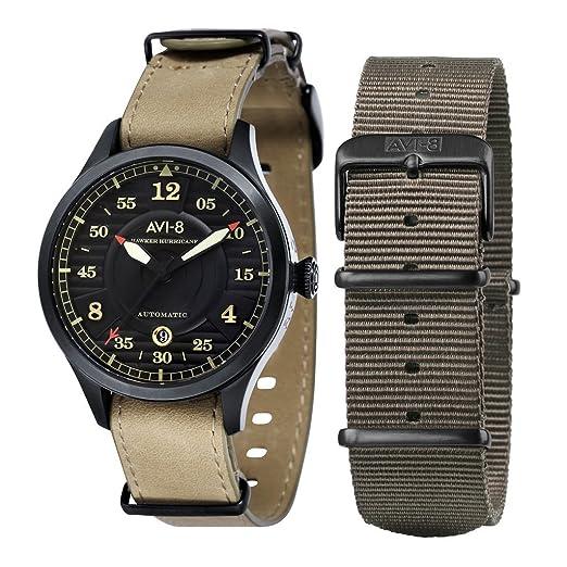 AVI-8 - Reloj militar automático, estilo aviador, de hombre, inspirado en