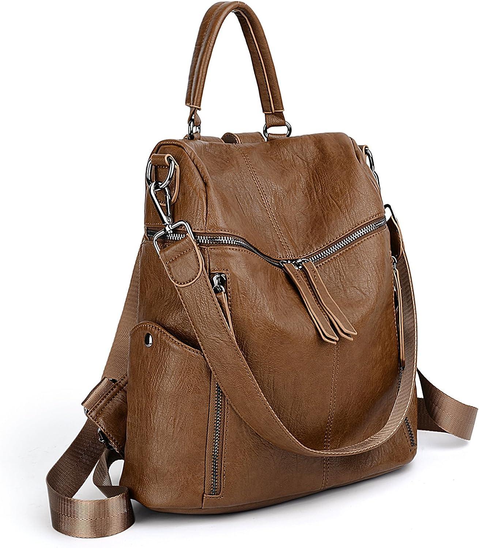 UTO Women Backpack Purse PU...