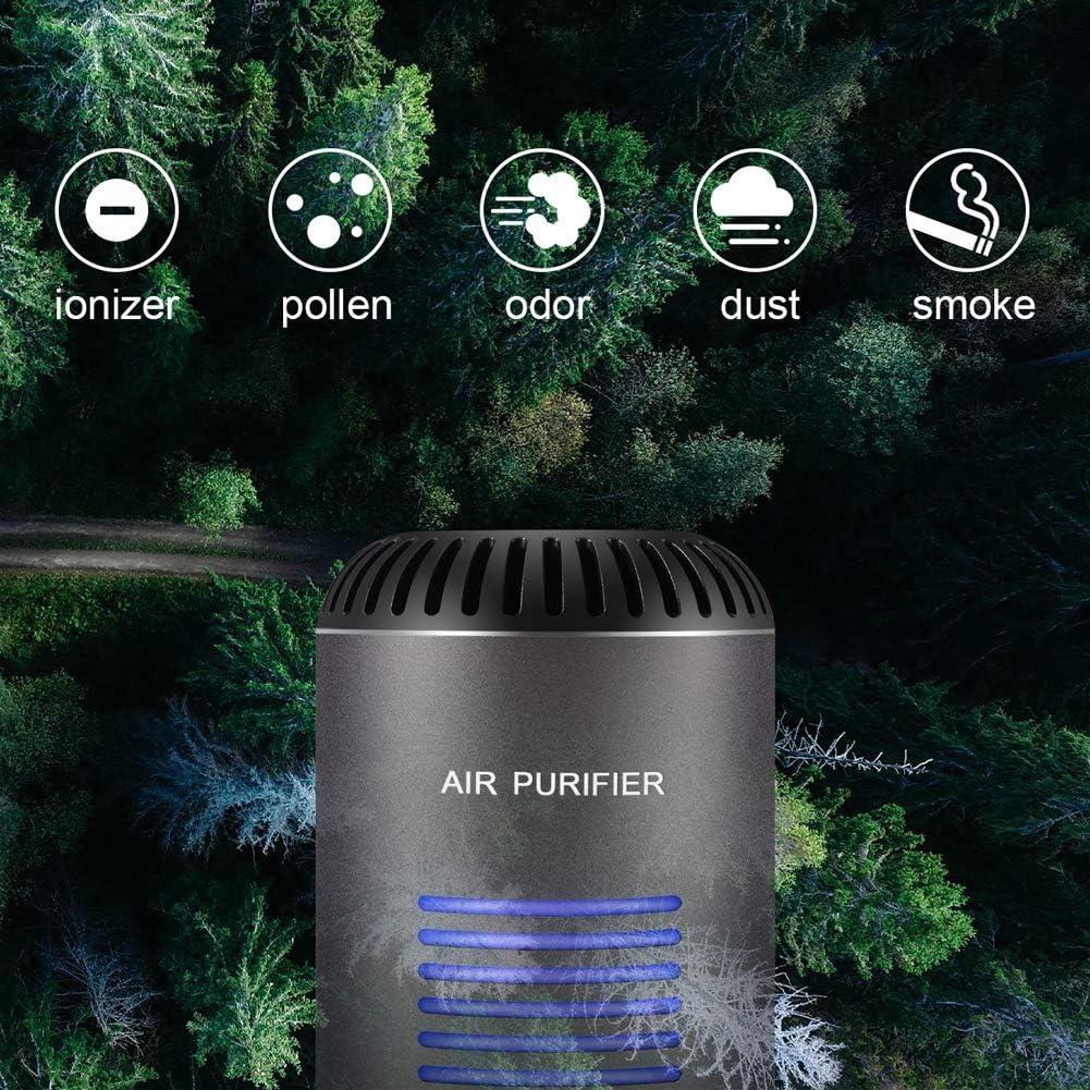 ZOTO 4 en 1 Purificador de Aire, HEPA, Filtros de carbón Activo, Esterilización UV & Anión Filtro de Aire del Coche ...