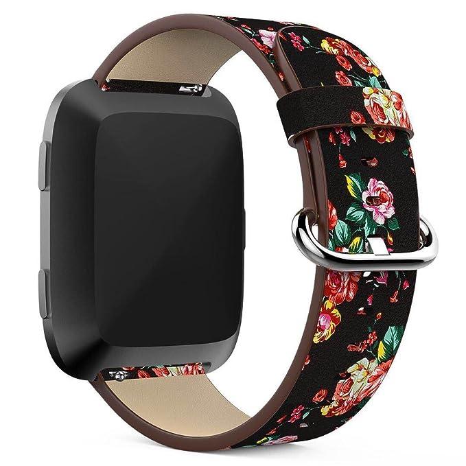 Floral Fitbit Versa bandas para mujer, diseño de flores ...
