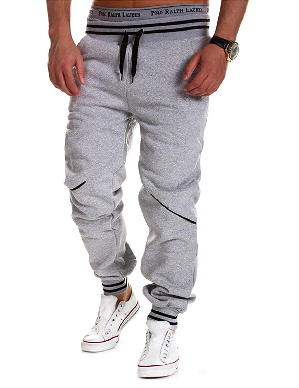 Jueshanzj Mens Casual Pants Slim Fit Running Sweatpants Tracksuit Bottoms ZTJSNC0245