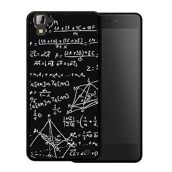 WoowCase Funda para Hisense C30 Rock, [Hisense C30 Rock ] Silicona Gel Flexible Fórmulas Matemáticas, Carcasa Case TPU Silicona - Negro