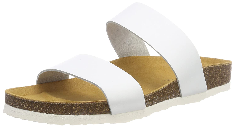 Bianco Damen Twin Strap Slip Slipper  38 EU|Wei? (White)