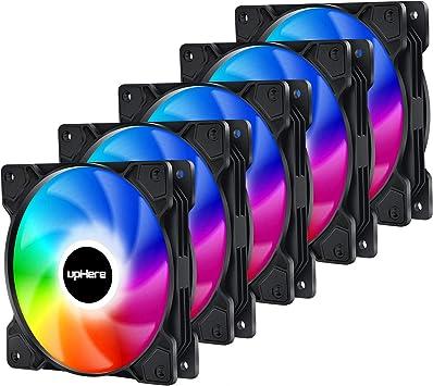 upHere 120mm Sync 5v 3pin ARGB PWM Ventilador de PC Caja de ...